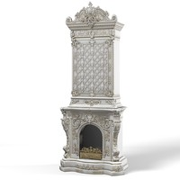 Classic baroque high tall firepalce chimney classic victorian plaster carved